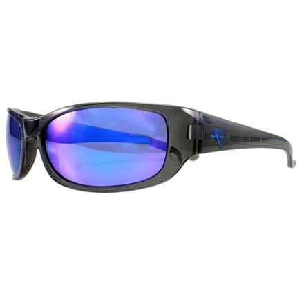 Fatheadz The Boss Sport Sunglasses - Polarized in Grey/Blue - Overstock