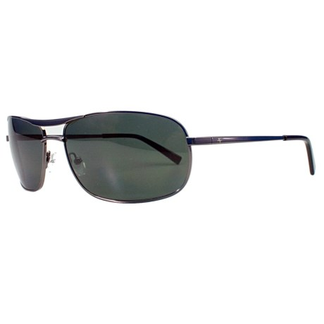 Fatheadz The Law Aviator Sport Sunglasses - Polarized in Gunmetal/Smoke