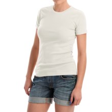 Favorite Cotton T-Shirt - Short Sleeve (For Women) in White - 2nds