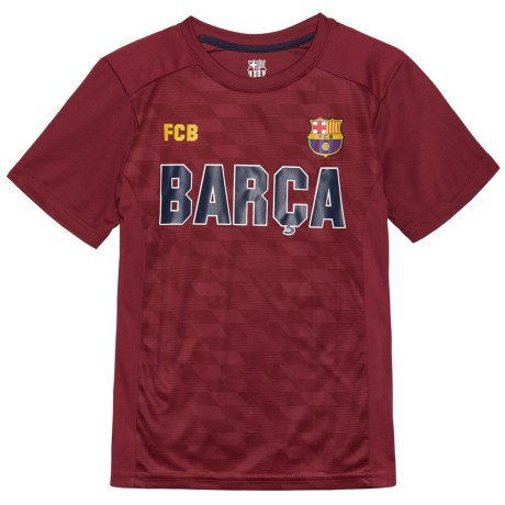 FC Barcelona Barca T-Shirt - Short Sleeve (For Kids) in Burgundy
