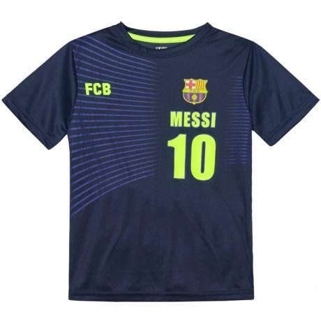 FC Barcelona Messi T-Shirt - Short Sleeve (For Kids) in Navy