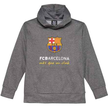 FCB FC Barcelona Logo Hoodie (For Kids) in Charcoal - Closeouts