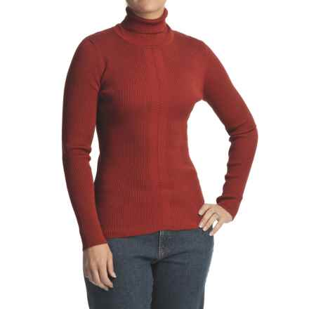 FDJ French Dressing 12-Gauge Turtleneck Sweater (For Women) in Burnt Red - Closeouts