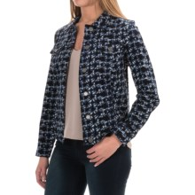 FDJ French Dressing Abstract Print Twill Jacket - Button Front (For Women) in Blue - Closeouts