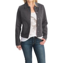 FDJ French Dressing Autumn Hues Jacket - Cotton Blend (For Women) in Carbon - Closeouts