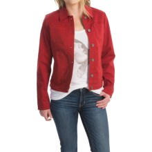 FDJ French Dressing Autumn Hues Jacket - Cotton Blend (For Women) in Cayenne - Closeouts