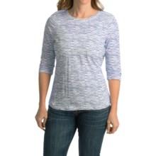 FDJ French Dressing Baby Cloud Stripe Shirt - 3/4 Sleeve (For Women) in Indigo - Closeouts