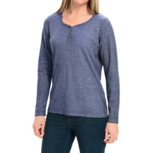 FDJ French Dressing Bling Henley Shirt - Long Sleeve (For Women) in Blue - Closeouts