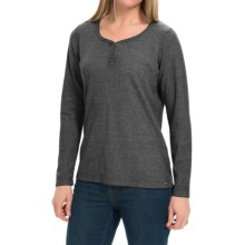 FDJ French Dressing Bling Henley Shirt - Long Sleeve (For Women) in Grey - Closeouts