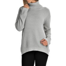 FDJ French Dressing Boxy Cowl Neck Sweater (For Women) in Heather - Closeouts
