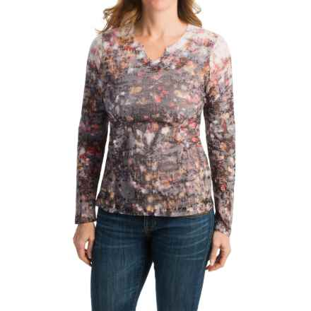 FDJ French Dressing Brush Stroke Burnout Print Shirt - Long Sleeve (For Women) in Multi - Closeouts