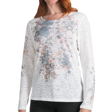 FDJ French Dressing Burnout Vintage Bouquet T-Shirt - Long Sleeve (For Women) in Cream