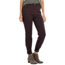 FDJ French Dressing Butter Denim Peggy Pants - Straight Leg (For Women) in Plum - Closeouts