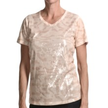 FDJ French Dressing Cheetah Print T-Shirt - Sequins, Short Sleeve (For Women) in Rope - Closeouts