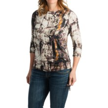 FDJ French Dressing City Park Print Shirt - 3/4 Sleeve (For Women) in Black - Closeouts