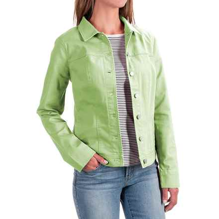 FDJ French Dressing Classic Stretch Jean Jacket (For Women) in Pistachio - Closeouts