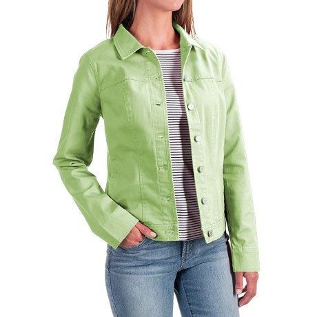 FDJ French Dressing Classic Stretch Jean Jacket (For Women) in Pistachio
