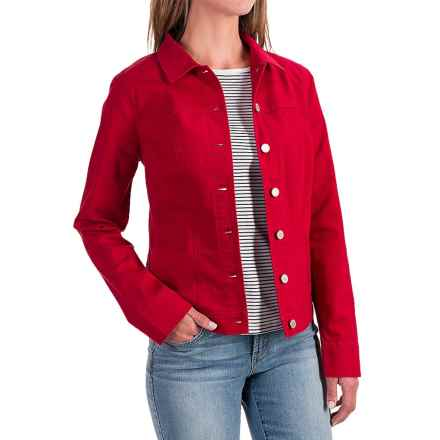 FDJ French Dressing Classic Stretch Jean Jacket (For Women) in Red - Closeouts