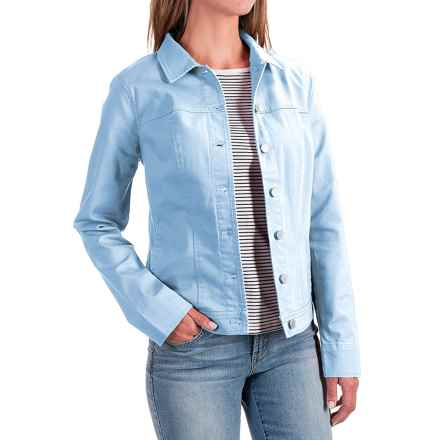 FDJ French Dressing Classic Stretch Jean Jacket (For Women) in Sky Blue - Closeouts