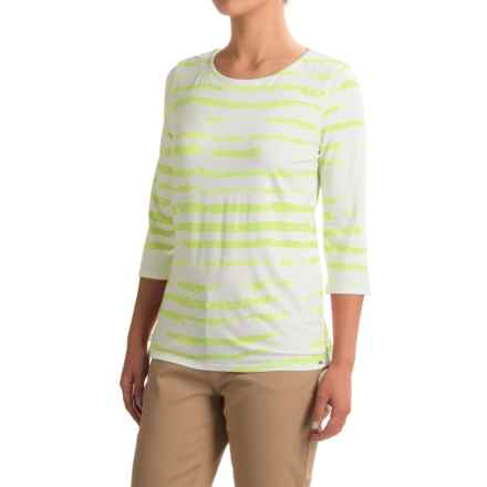 FDJ French Dressing Cloud Stripe Viscose Shirt - 3/4 Sleeve (For Women) in Limeade - Closeouts