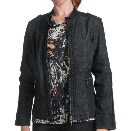 FDJ French Dressing Cobra Jean Jacket (For Women) in Graphite