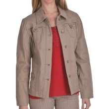 FDJ French Dressing Colored Denim Jacket - Stretch Cotton (For Women) in Sandy - Closeouts