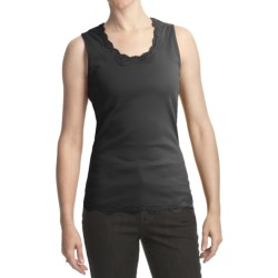 FDJ French Dressing Cotton Jersey Camisole - Lace Trim (For Women) in Black