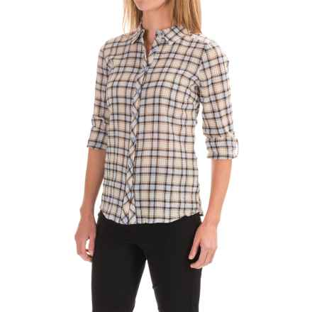 FDJ French Dressing Crinkled Plaid Shirt - Roll-Up Long Sleeve (For Women) in Multi - Closeouts