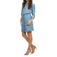 FDJ French Dressing Denim Dress - TENCEL®, Long Sleeve (For Women) in Chambray - Closeouts