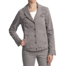 FDJ French Dressing Diamond Denim Jacket - Stretch Cotton (For Women) in Cinder Wash - Closeouts