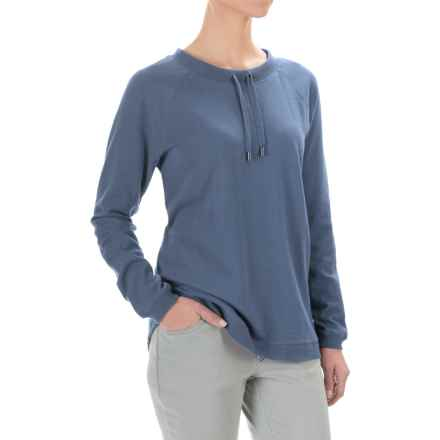 FDJ French Dressing Drawstring Neck Sweatshirt (For Women) in Slate Blue - Closeouts