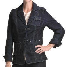FDJ French Dressing Euro Denim Blazer (For Women) in Blue/Black - Closeouts