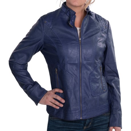 FDJ French Dressing Faux-Leather Jacket (For Women) in Red