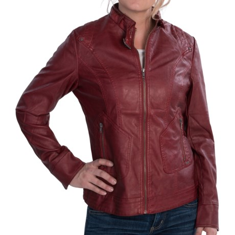 FDJ French Dressing Faux-Leather Jacket (For Women) in Saddle