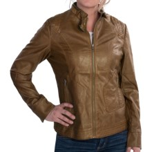 FDJ French Dressing Faux-Leather Jacket (For Women) in Saddle - Closeouts