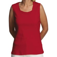 FDJ French Dressing Fooler Tank Top - Beaded Detail (For Women) in Red - Closeouts