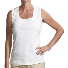 FDJ French Dressing Fooler Tank Top - Beaded Detail (For Women) in White - Closeouts