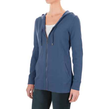 FDJ French Dressing French Terry Hoodie - Full Zip (For Women) in Slate Blue - Overstock