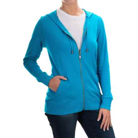 FDJ French Dressing French Terry Hoodie - Full Zip (For Women) in Turquioise - Overstock