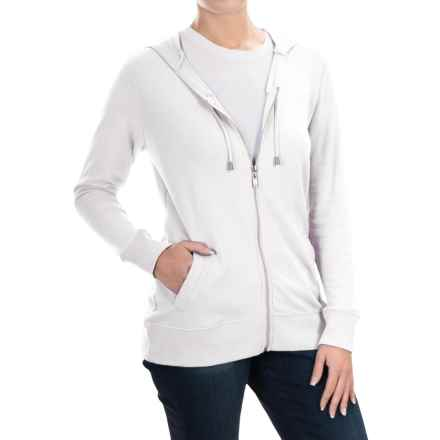 FDJ French Dressing French Terry Hoodie - Full Zip (For Women) in White - Overstock