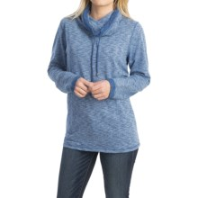 FDJ French Dressing French Terry Shirt - Funnel Neck, Long Sleeve (For Women) in Blue - Closeouts