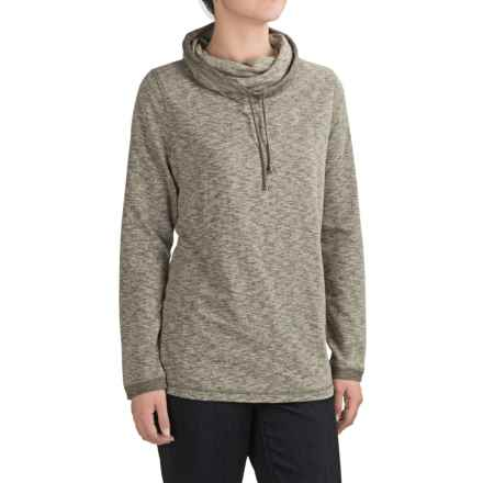 FDJ French Dressing French Terry Shirt - Funnel Neck, Long Sleeve (For Women) in Heather Olive - Closeouts