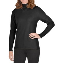 FDJ French Dressing Gathered Mock Neck Sweater (For Women) in Black - Closeouts