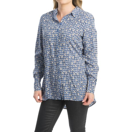FDJ French Dressing Geo Oval Print Blouse Long Sleeve (For Women)