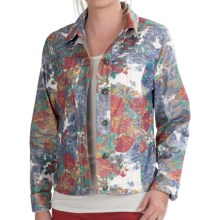 FDJ French Dressing Golden Floral Print Jacket (For Women) in Multi - Closeouts