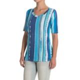 FDJ French Dressing Grid-Stripe Shirt - Short Sleeve (For Women)