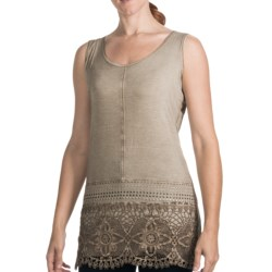 FDJ French Dressing Hazy Lacy Tank Top - Stretch Rayon (For Women) in Sand