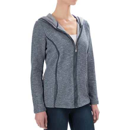 FDJ French Dressing Heather Pinstripe Hoodie - Full Zip (For Women) in Blue - Closeouts