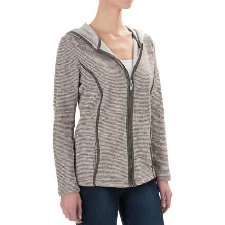 FDJ French Dressing Heather Pinstripe Hoodie - Full Zip (For Women) in Brown - Closeouts