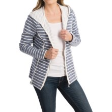 FDJ French Dressing Heathered Stripe Hoodie - Full Zip (For Women) in Blue - Closeouts